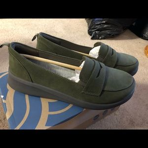 Microfiber suede loafers